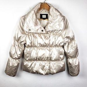 Old Navy | Light Gold Puffer Jacket Coat Medium
